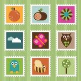 γραμματόσημα φύσης Στοκ Εικόνες