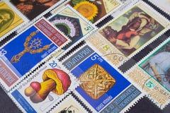 γραμματόσημα χρησιμοποι&omicr Στοκ Φωτογραφία