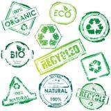 γραμματόσημα eco Στοκ Φωτογραφία