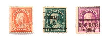 γραμματόσημα franklin Benjamin Στοκ Εικόνες