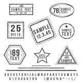 Γραμματόσημα Grunge Στοκ Εικόνες