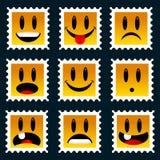 γραμματόσημα smiley Στοκ Εικόνες
