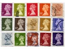 γραμματόσημα UK Στοκ φωτογραφία με δικαίωμα ελεύθερης χρήσης