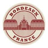 Γραμματόσημο ή ετικέτα Μπορντώ, Γαλλία διανυσματική απεικόνιση