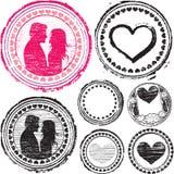 γραμματόσημο αγάπης Στοκ εικόνα με δικαίωμα ελεύθερης χρήσης