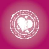 γραμματόσημο αγάπης Στοκ φωτογραφίες με δικαίωμα ελεύθερης χρήσης