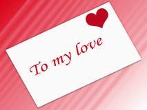 γραμματόσημο αγάπης Στοκ εικόνες με δικαίωμα ελεύθερης χρήσης