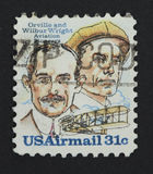 γραμματόσημο αδελφών wright στοκ εικόνες με δικαίωμα ελεύθερης χρήσης