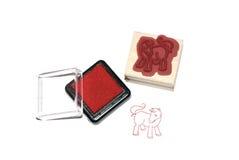 γραμματόσημο αλόγων χρώματ&o Στοκ Εικόνα