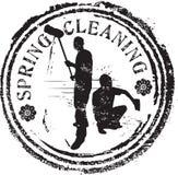 Γραμματόσημο ανοιξιάτικου καθαρισμού Στοκ εικόνα με δικαίωμα ελεύθερης χρήσης