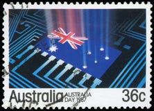 Γραμματόσημο - αυστραλιανή σημαία Στοκ Εικόνα