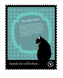 γραμματόσημο γατών Στοκ Φωτογραφίες