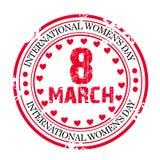 Γραμματόσημο ημέρας γυναικών Στοκ Εικόνες