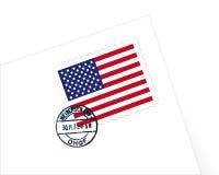 γραμματόσημο ΗΠΑ απεικόνι&si διανυσματική απεικόνιση