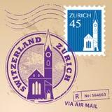 Γραμματόσημο καθορισμένη Ζυρίχη Στοκ εικόνες με δικαίωμα ελεύθερης χρήσης