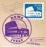 Γραμματόσημο καθορισμένη Ρώμη διανυσματική απεικόνιση