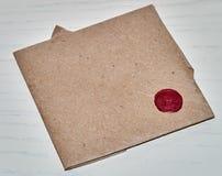 Γραμματόσημο και μια επιστολή Στοκ Εικόνα