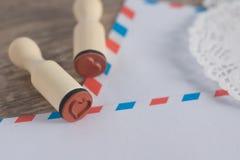Γραμματόσημο καρδιών Στοκ φωτογραφία με δικαίωμα ελεύθερης χρήσης