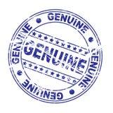 γραμματόσημο μελανιού: γνήσιος (διάνυσμα) Στοκ Εικόνα
