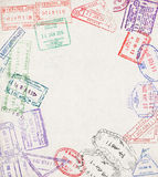 Γραμματόσημο μετανάστευσης Στοκ Φωτογραφίες
