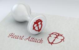 Γραμματόσημο με την καρδιά, την ιατρική, το φύλλο και το γραμματόσημο με την καρδιά attack heart keeps man Στοκ εικόνες με δικαίωμα ελεύθερης χρήσης