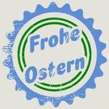 Γραμματόσημο με τις γερμανικές λέξεις ευτυχές Πάσχα Στοκ φωτογραφία με δικαίωμα ελεύθερης χρήσης
