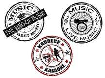 γραμματόσημο μουσικής Στοκ Εικόνες