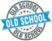 Γραμματόσημο παλιού σχολείου ελεύθερη απεικόνιση δικαιώματος