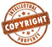 Γραμματόσημο πνευματικών δικαιωμάτων διανυσματική απεικόνιση