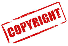 Γραμματόσημο πνευματικών δικαιωμάτων ελεύθερη απεικόνιση δικαιώματος