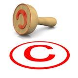 Γραμματόσημο πνευματικών δικαιωμάτων Στοκ φωτογραφίες με δικαίωμα ελεύθερης χρήσης
