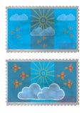 Γραμματόσημο πουλιών Στοκ Εικόνες