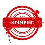γραμματόσημο που σφραγίζ&ep απεικόνιση αποθεμάτων