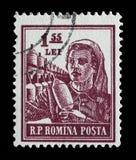Γραμματόσημο που τυπώνεται στη Ρουμανία από τα επαγγέλματα σειράς Στοκ φωτογραφία με δικαίωμα ελεύθερης χρήσης