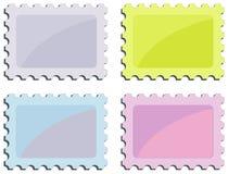 γραμματόσημο σειράς διανυσματική απεικόνιση