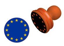 Γραμματόσημο σημαιών της Ευρωπαϊκής Ένωσης που απομονώνεται Στοκ εικόνα με δικαίωμα ελεύθερης χρήσης