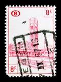 Γραμματόσημο σιδηροδρόμων: Ο Βορράς των Βρυξελλών σταθμών, serie, circa 1954 Στοκ Φωτογραφία