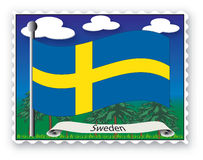 γραμματόσημο Σουηδία απεικόνιση αποθεμάτων