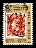 Γραμματόσημο στο γραμματόσημο, ημέρα γραμματοσήμων serie, circa 1978 Στοκ Φωτογραφίες