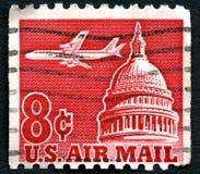 Γραμματόσημο ταχυδρομείου αμερικανικού αέρα Στοκ εικόνες με δικαίωμα ελεύθερης χρήσης