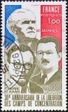 γραμματόσημο της Γαλλίας Στοκ Εικόνες