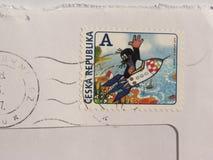 Γραμματόσημο της Δημοκρατίας της Τσεχίας στο Μπρνο Στοκ εικόνα με δικαίωμα ελεύθερης χρήσης