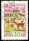 Γραμματόσημο της ΕΣΣΔ - αριθμοί των παιδιών για το collec Στοκ φωτογραφίες με δικαίωμα ελεύθερης χρήσης