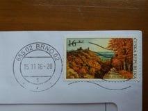 Γραμματόσημο της Δημοκρατίας της Τσεχίας Στοκ Εικόνες