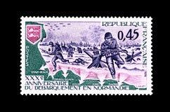 Γραμματόσημο της τριακοστής επετείου των αποβάσεων της Νορμανδίας Στοκ εικόνες με δικαίωμα ελεύθερης χρήσης