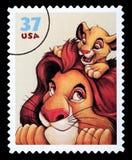 Γραμματόσημο της Disney βασιλιάδων λιονταριών απεικόνιση αποθεμάτων