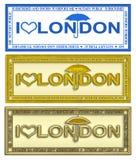 γραμματόσημο του Λονδίν&omicro διανυσματική απεικόνιση