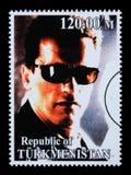 Γραμματόσημο του Arnold Schwarzenegger Στοκ Εικόνες