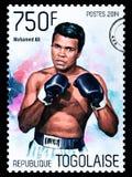 Γραμματόσημο του Muhammad Ali στοκ εικόνες