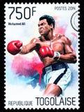 Γραμματόσημο του Muhammad Ali στοκ φωτογραφία